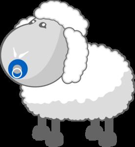 svg royalty free library Cartoon . Lamb clipart baby lamb.