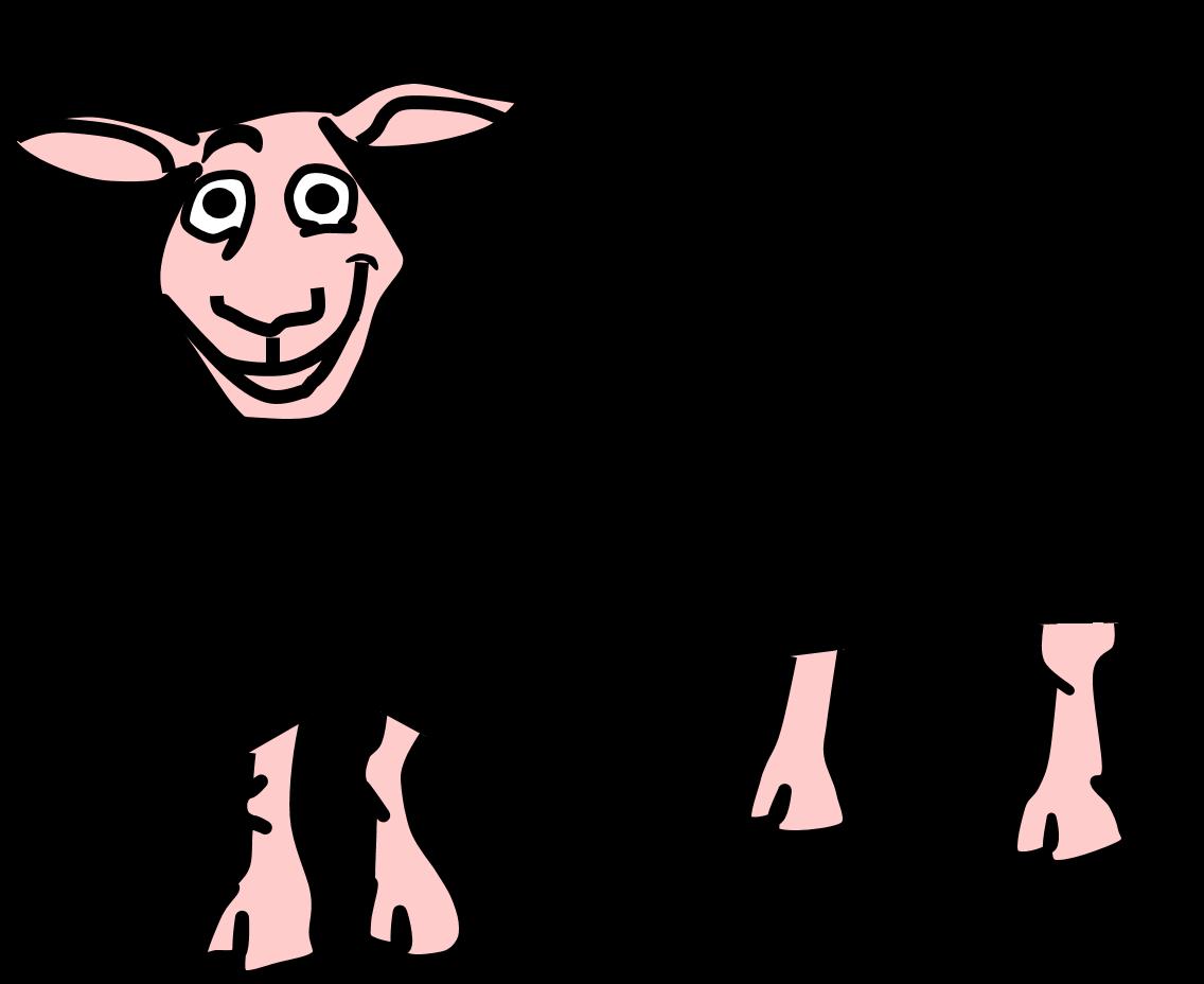clip art freeuse library Sheep farm cartoon illustration. Lamb clipart barnyard animal