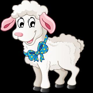 vector black and white download Funny sheep farm images. Lamb clipart barnyard animal