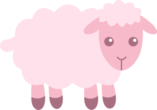 svg Lamb Clipart pink sheep