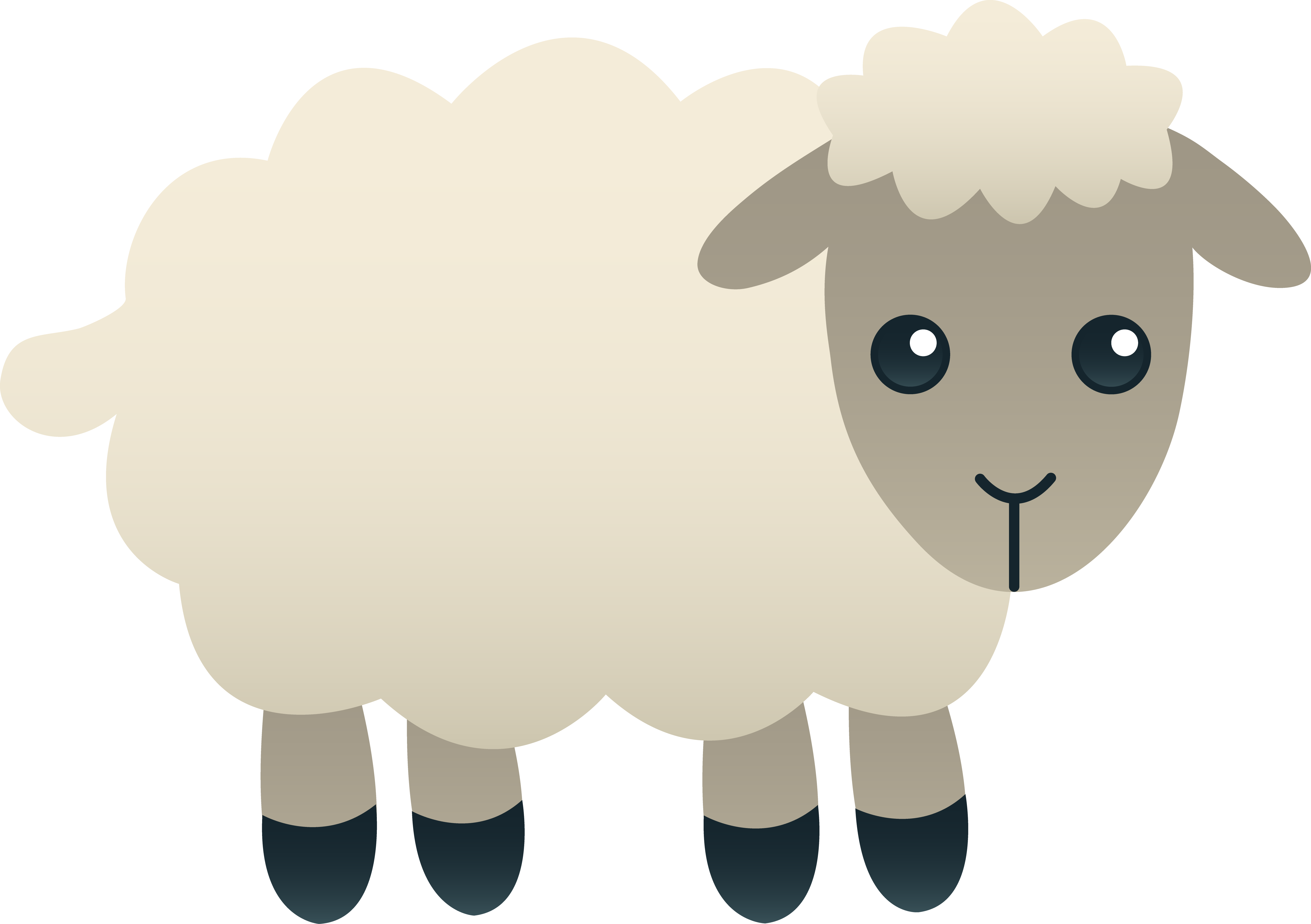 svg royalty free stock Beard clipart baby shower. Fluffy white sheep aiti