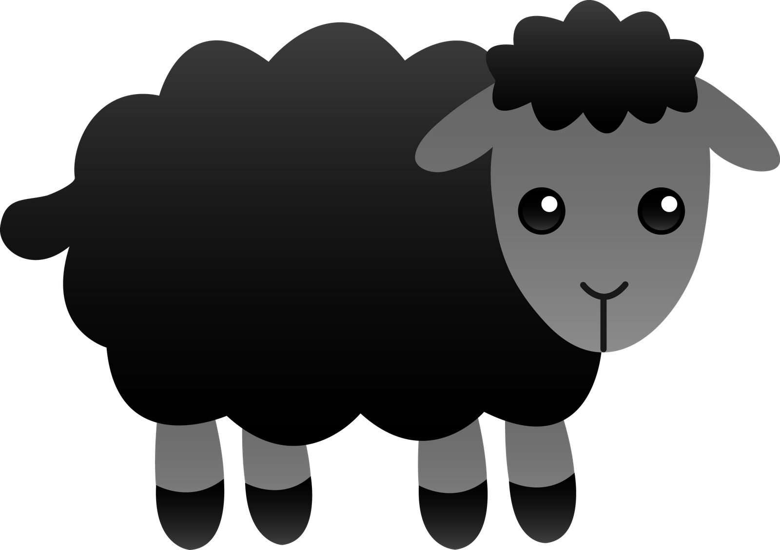 clipart freeuse library Scared free on dumielauxepices. Lamb clipart fluffy sheep.
