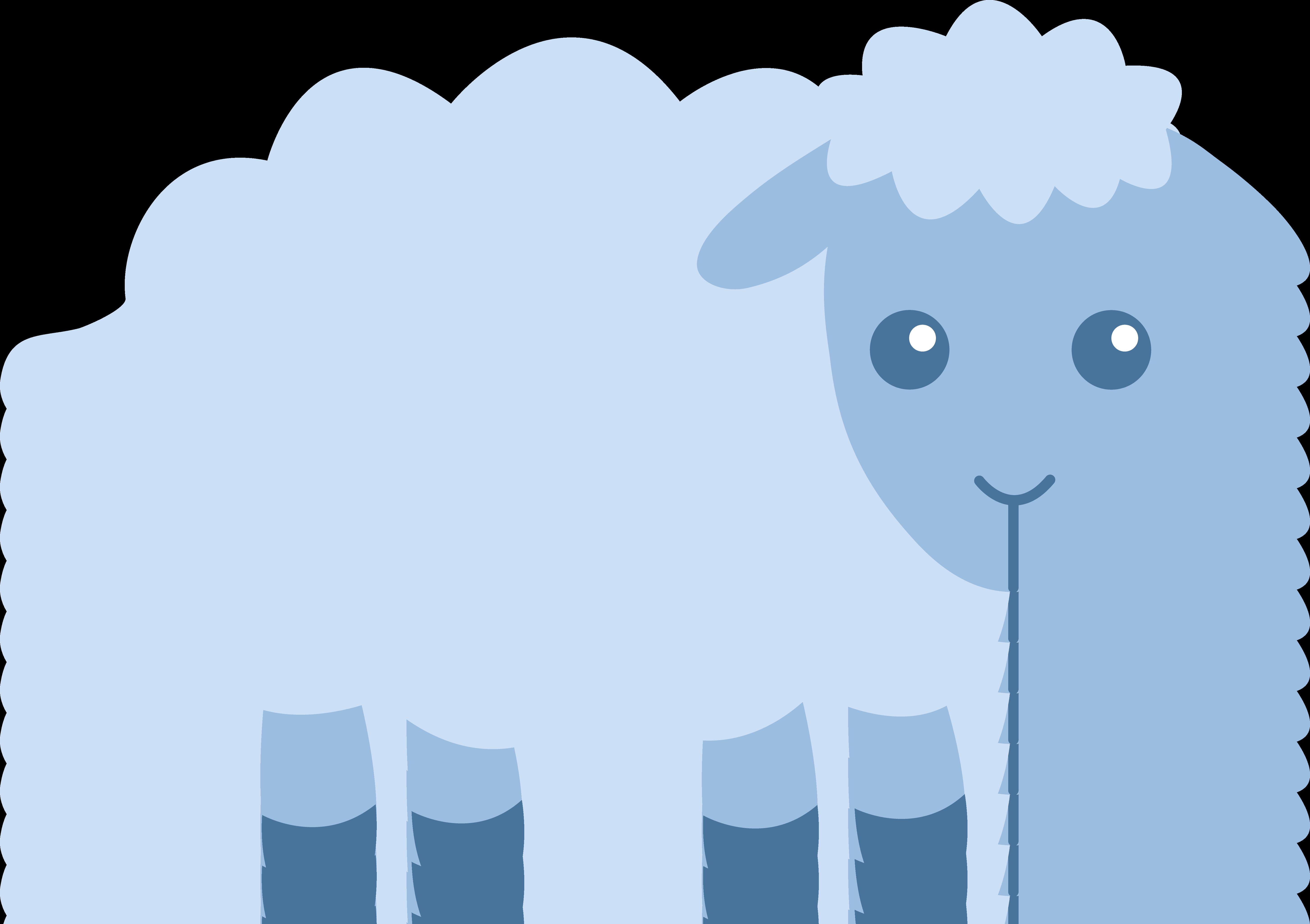 jpg royalty free Cute blue free clip. Lamb clipart fluffy sheep.