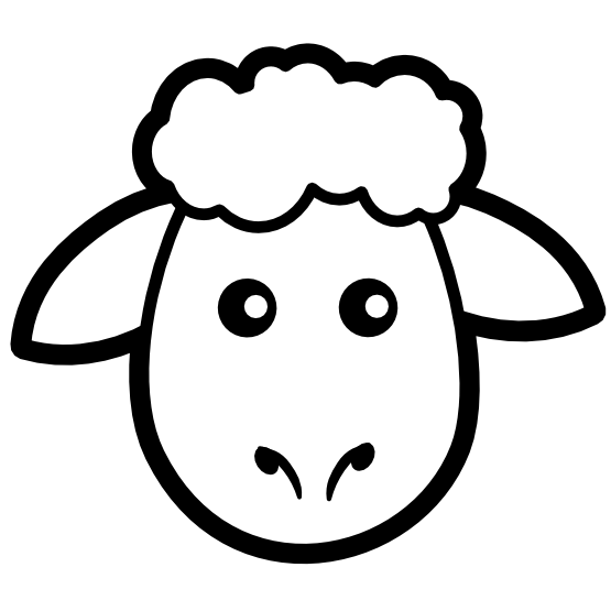 picture library download Sheep icon black white. Lamb clipart line art.
