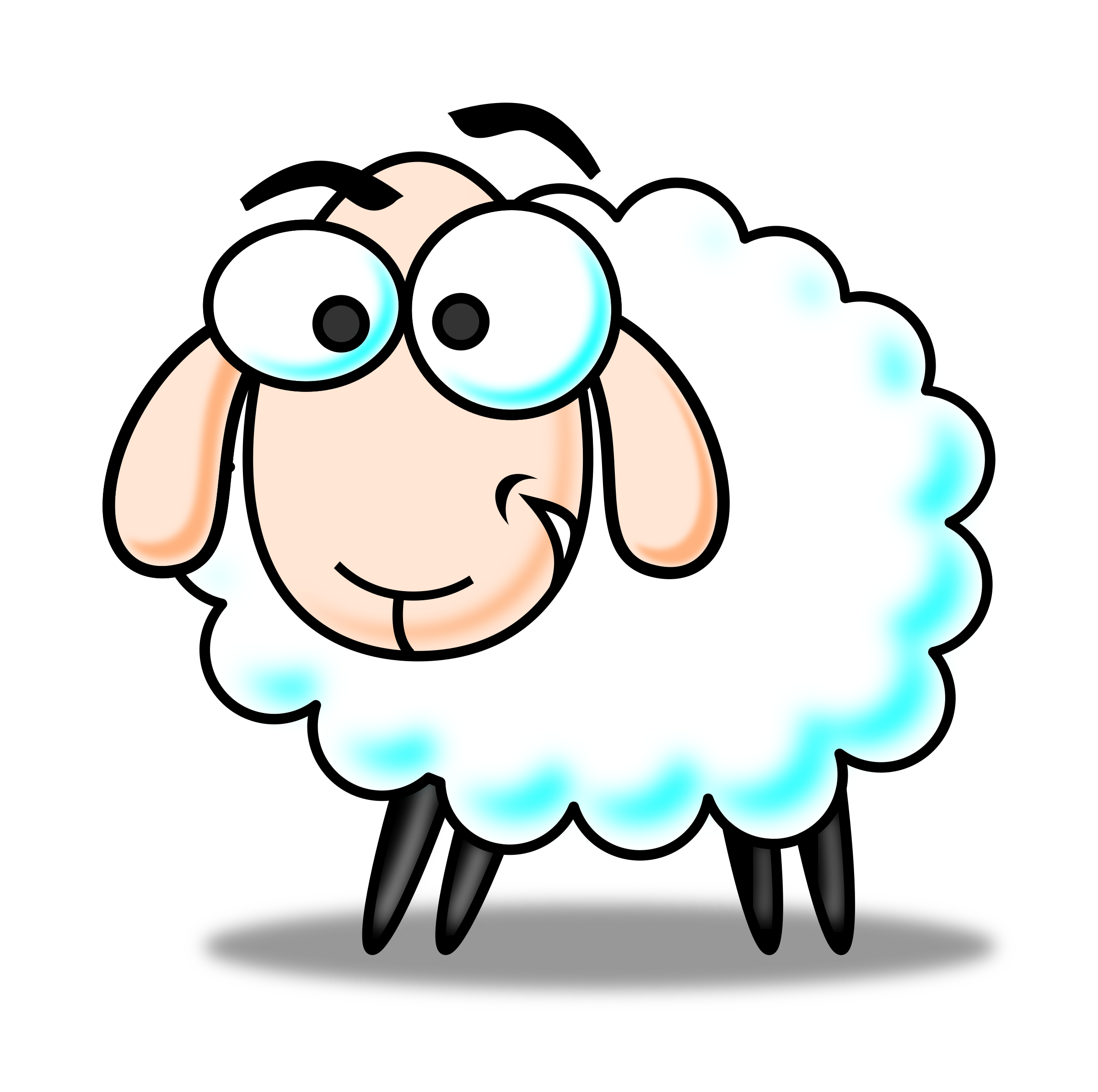 banner freeuse Lamb clipart line art. Small sheep free on.