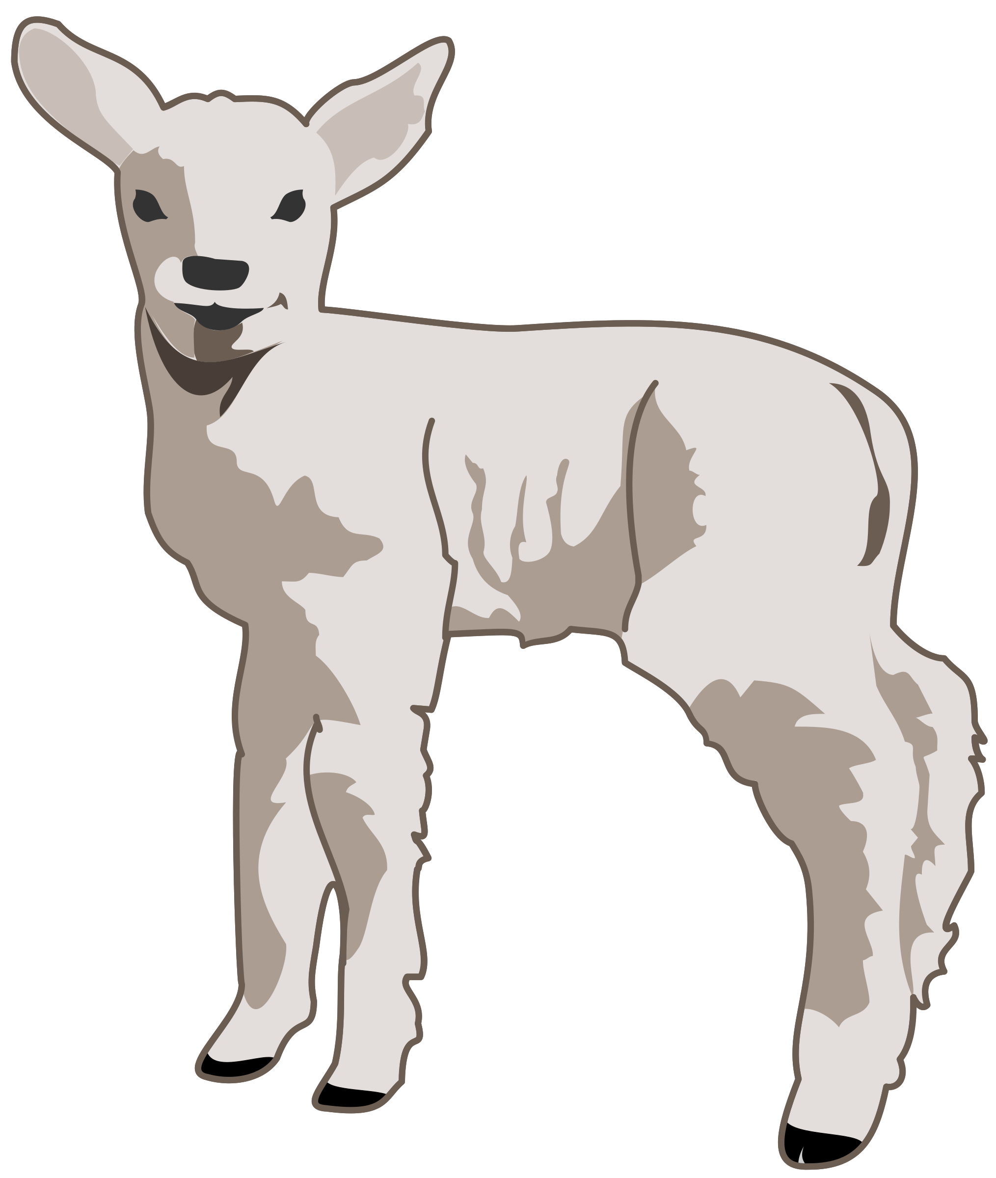 stock Lamb clipart. Big sheep free on