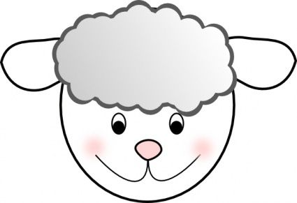 png transparent stock Lamb face clipart. Clip art panda free