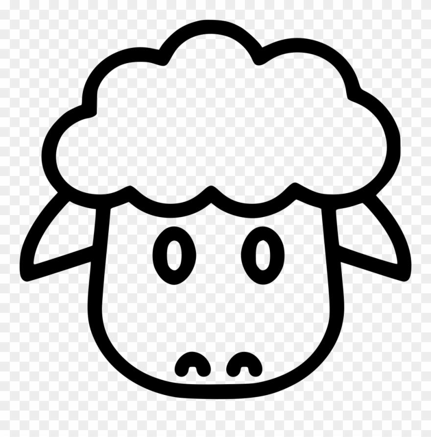 jpg transparent stock Lamb face clipart. Sheep png pinclipart