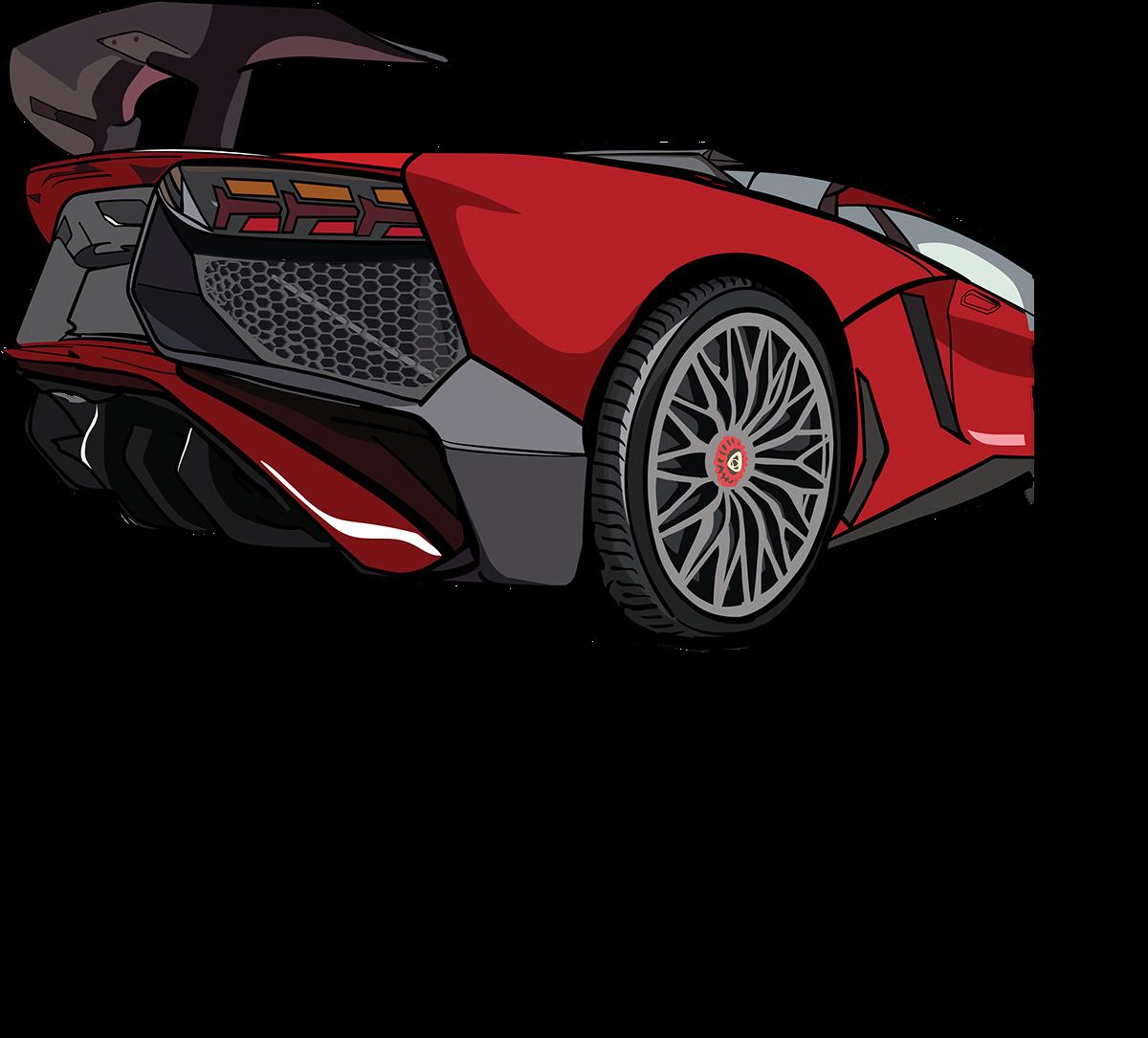 clip art freeuse stock Lamborghini Aventador SV Vector on Behance