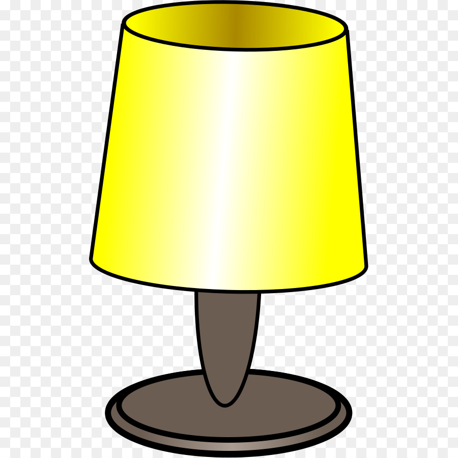graphic freeuse stock Light bulb cartoon yellow. Lamp clipart.