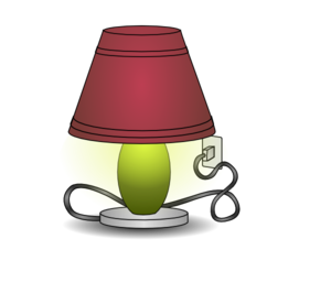 freeuse library Plugged in clip art. Lamp clipart.