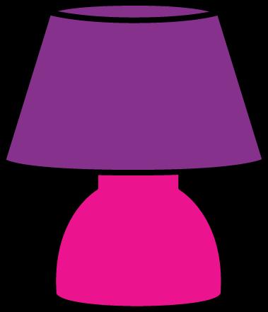 clip Lamp clipart. Purple .