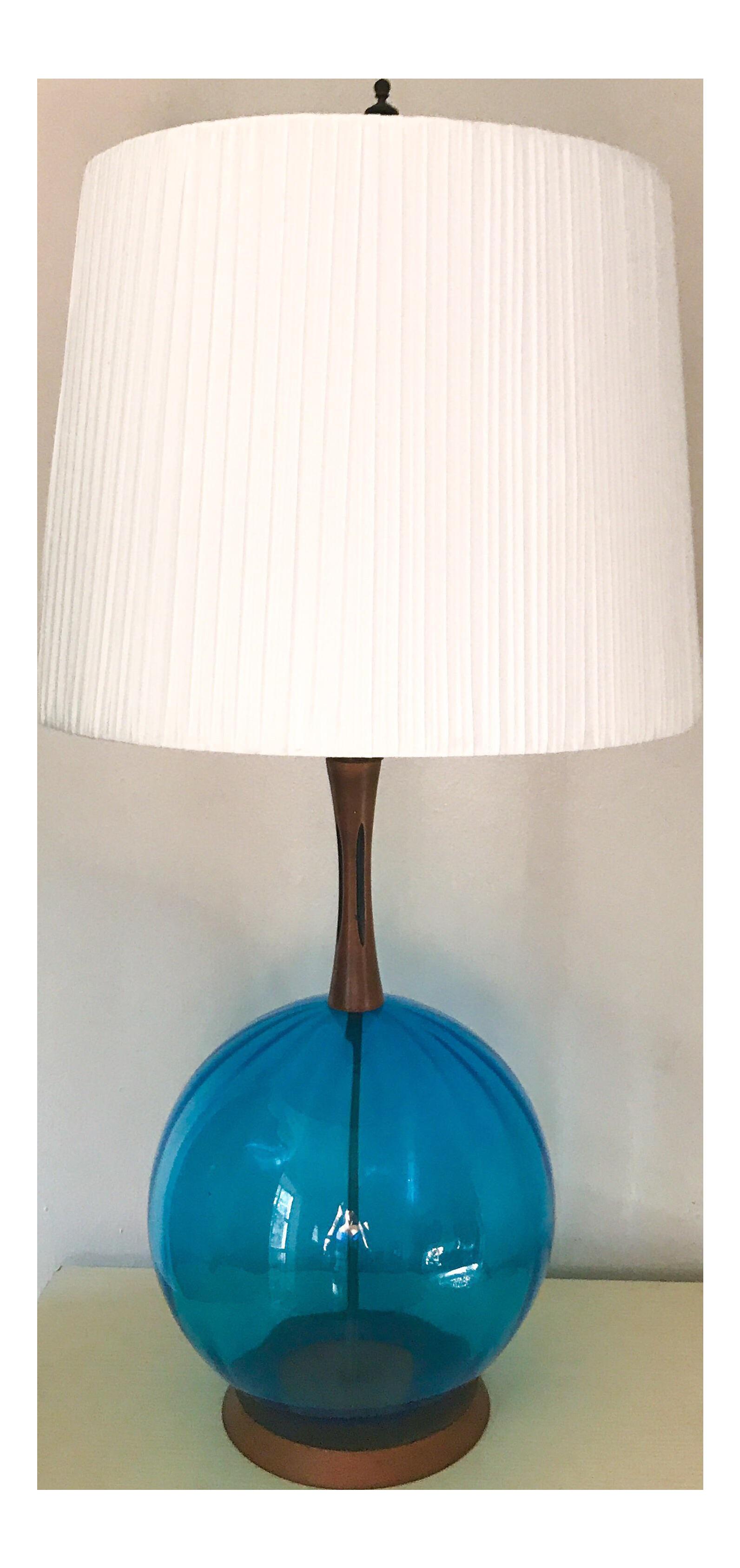 jpg transparent Danish Modern Azure Blue Glass