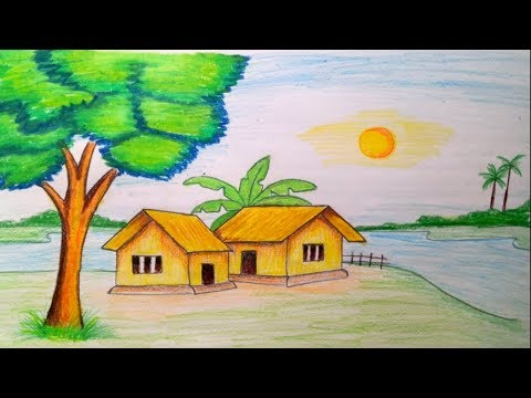 png How to draw landscape. Drawing topic nature