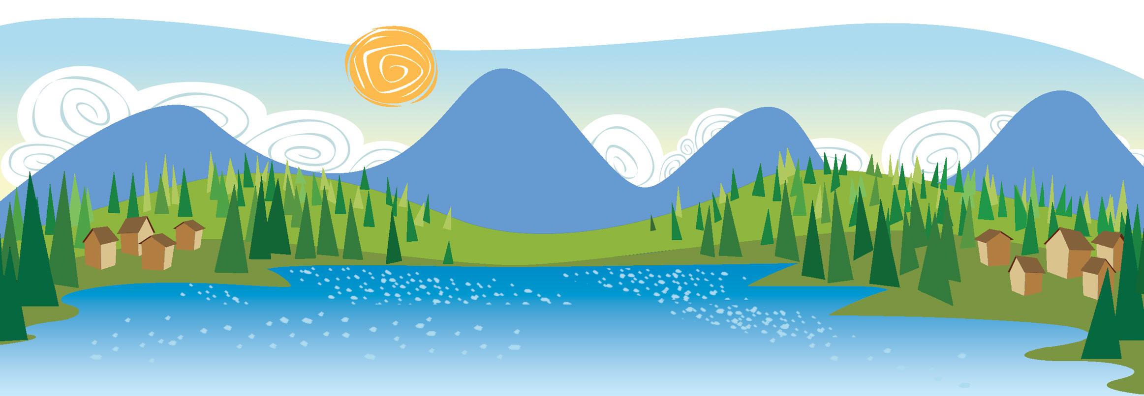banner freeuse stock Landscape clipart. Clip art free panda.