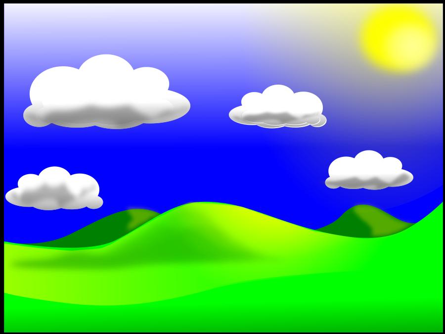 vector black and white Landscape clipart. Free cliparts download clip.