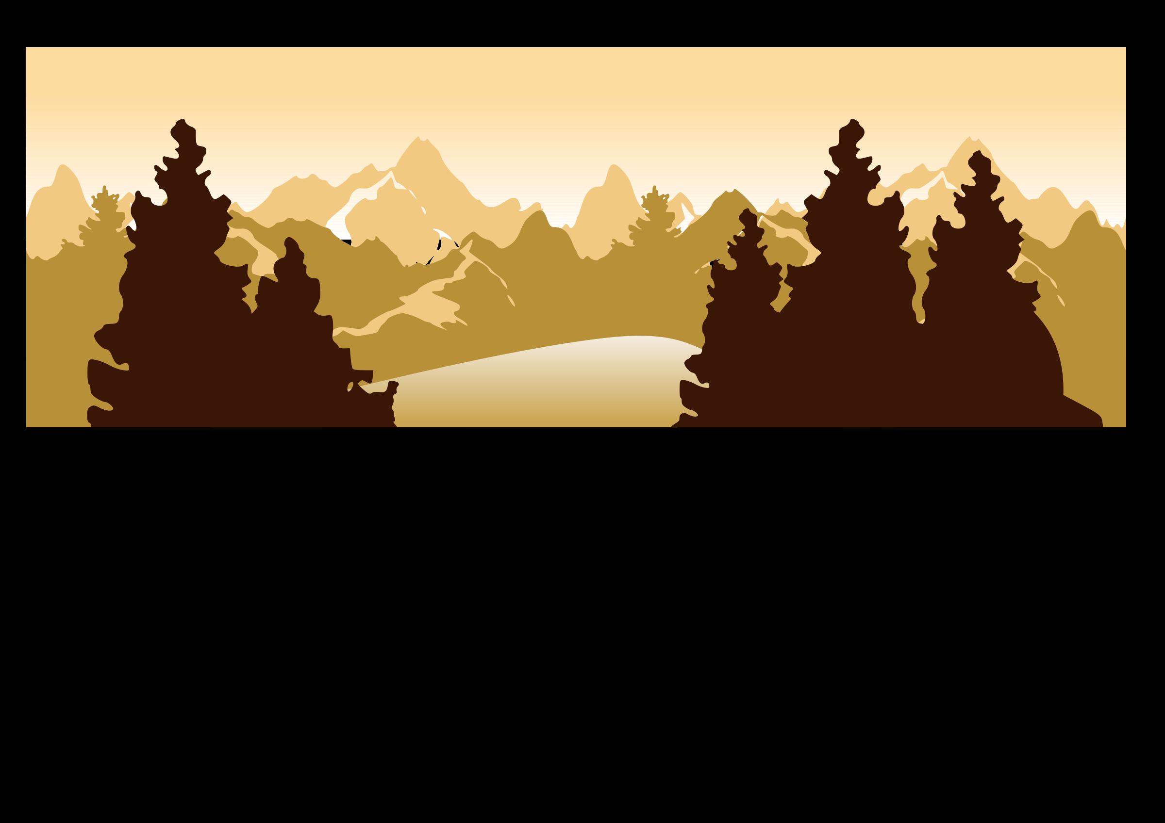 png transparent download Silhouette clip art at. Landscape clipart landscape painting.