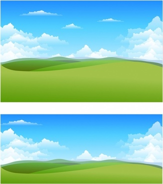banner library library Landscaping clipart background. Natural landscape free vector.