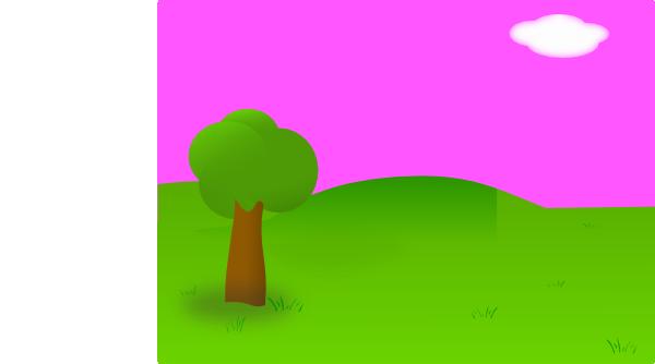 banner free download Pink landscape clip art. Landscaping clipart background.