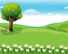svg freeuse library  best cartoon landscape. Landscaping clipart background.