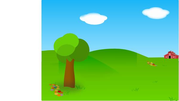 clip freeuse Barn clip art at. Vector cartoons landscape