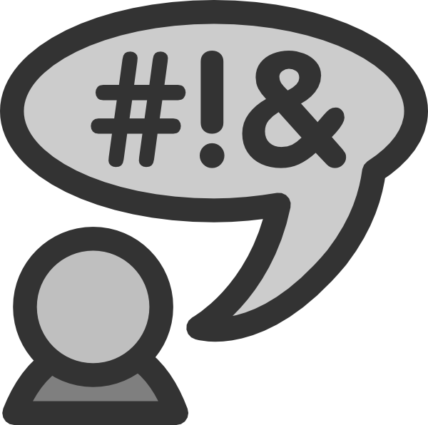 svg black and white library Chat clip art at. Language clipart.