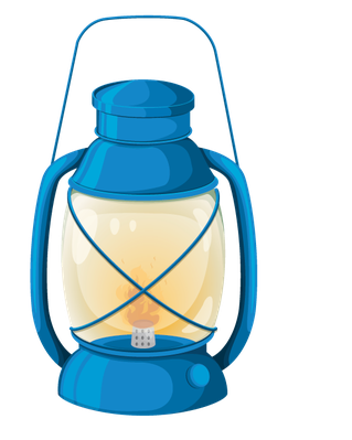 jpg download Lantern clipart. Various objects of camping.