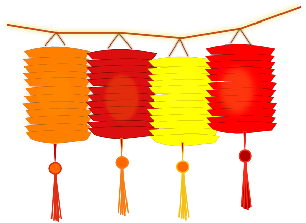 graphic transparent library Lantern clipart. Paper lanterns clip art.