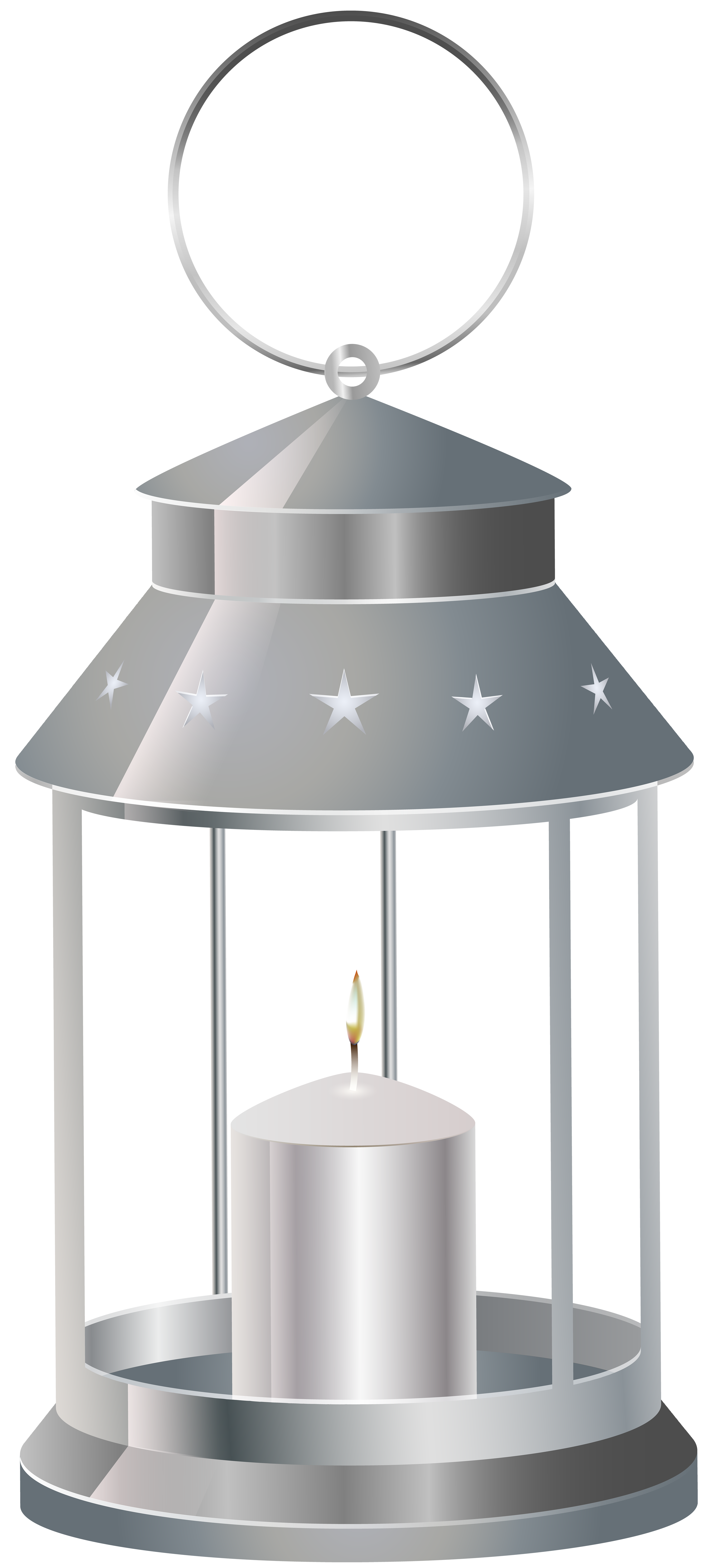 svg Silver with candle png. Lantern clipart.