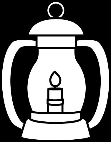graphic royalty free download Black and White Lantern