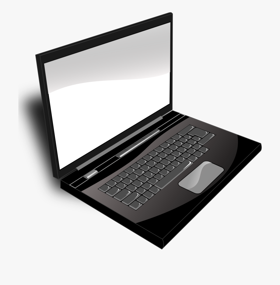 picture freeuse stock Computer image black and. Laptop clipart