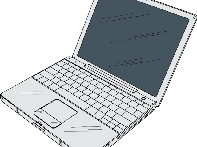 clip black and white stock Laptop clipart. Free on dumielauxepices net