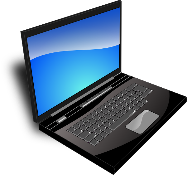 clip art black and white stock Laptop clipart computer education. Blue free on dumielauxepices.