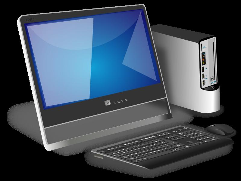 graphic free stock Generic office desktop clip. Laptop clipart computer education.