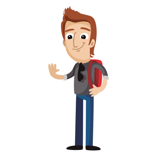 picture royalty free library Laptop clipart little student. Male cartoon png free.