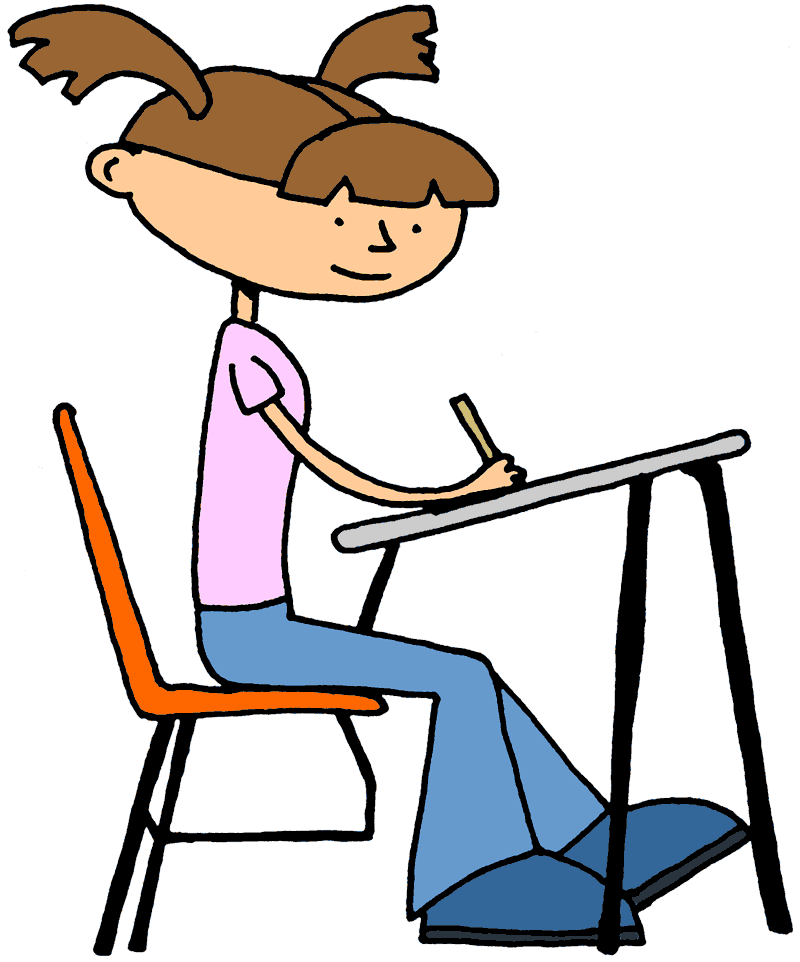 graphic freeuse download Student top of on. Students working independently clipart.