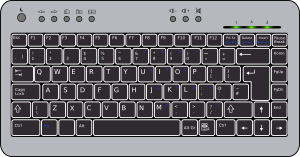 svg freeuse download Compact clip art at. Laptop keyboard clipart