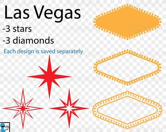 vector royalty free library Las vegas clipart diy. Pieces cutting files svg