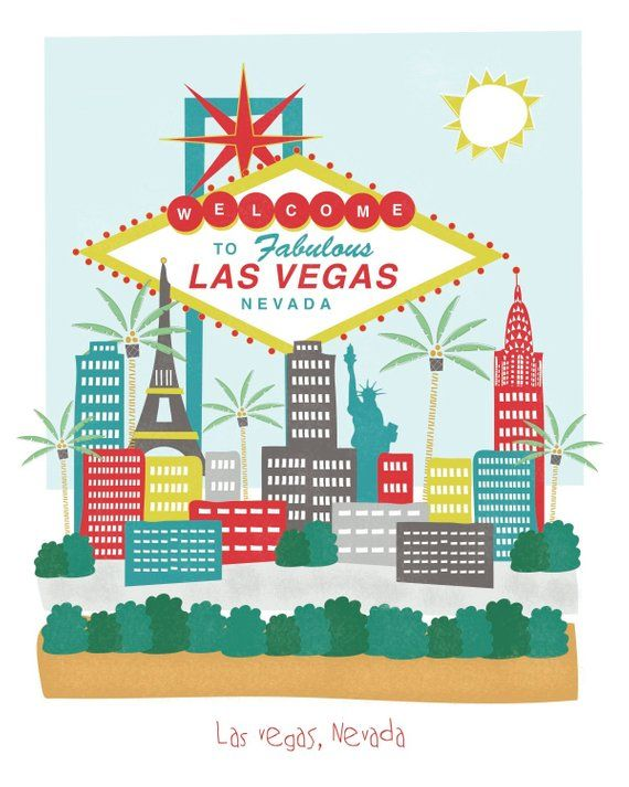 clipart free stock Nevada x city art. Las vegas clipart illustration