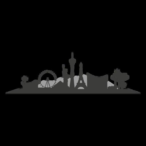clip library download Las vegas clipart illustration. Skyline silhouette png cricut