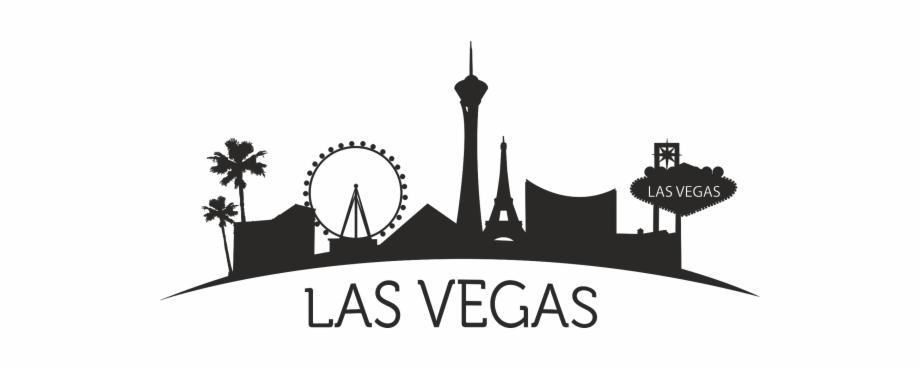 black and white stock Image skyline clip art. Las vegas clipart outline