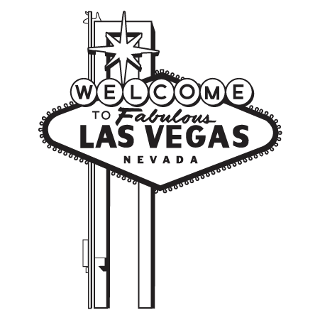 clipart freeuse Las Vegas Clipart Black And White