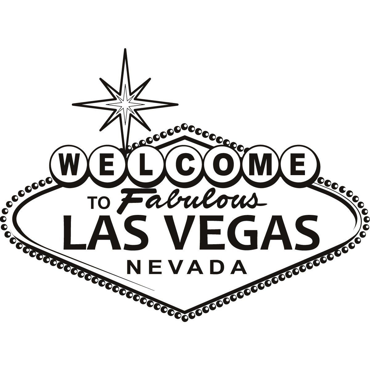 picture stock Las vegas clipart outline. Sign wall art sticker