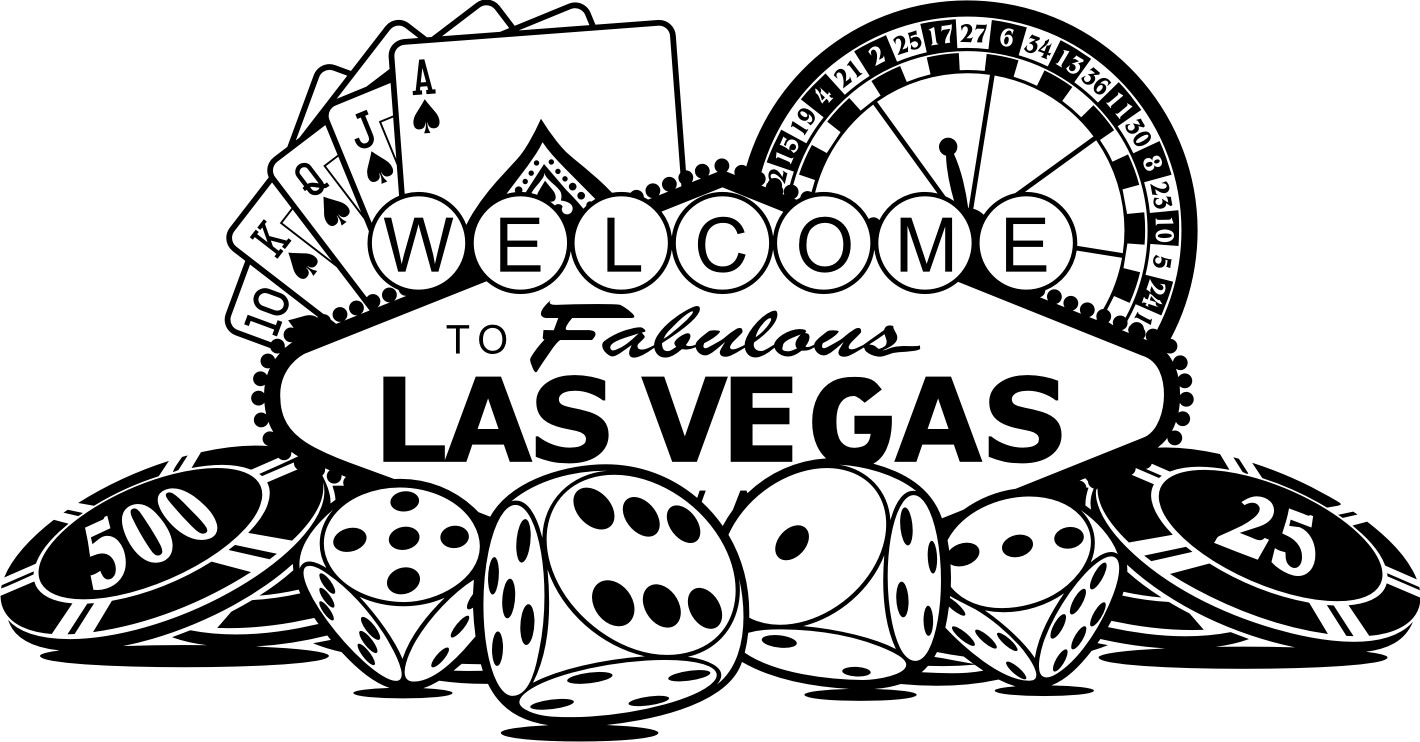 svg freeuse download Free black and white. Las vegas clipart outline