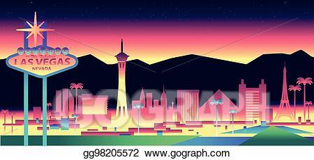 image black and white stock Las vegas clipart vector. Art skyline drawing gg
