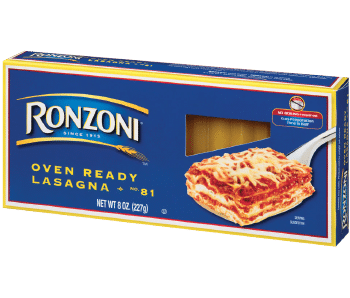 svg royalty free stock Oven Ready Lasagna Noodles from Ronzoni