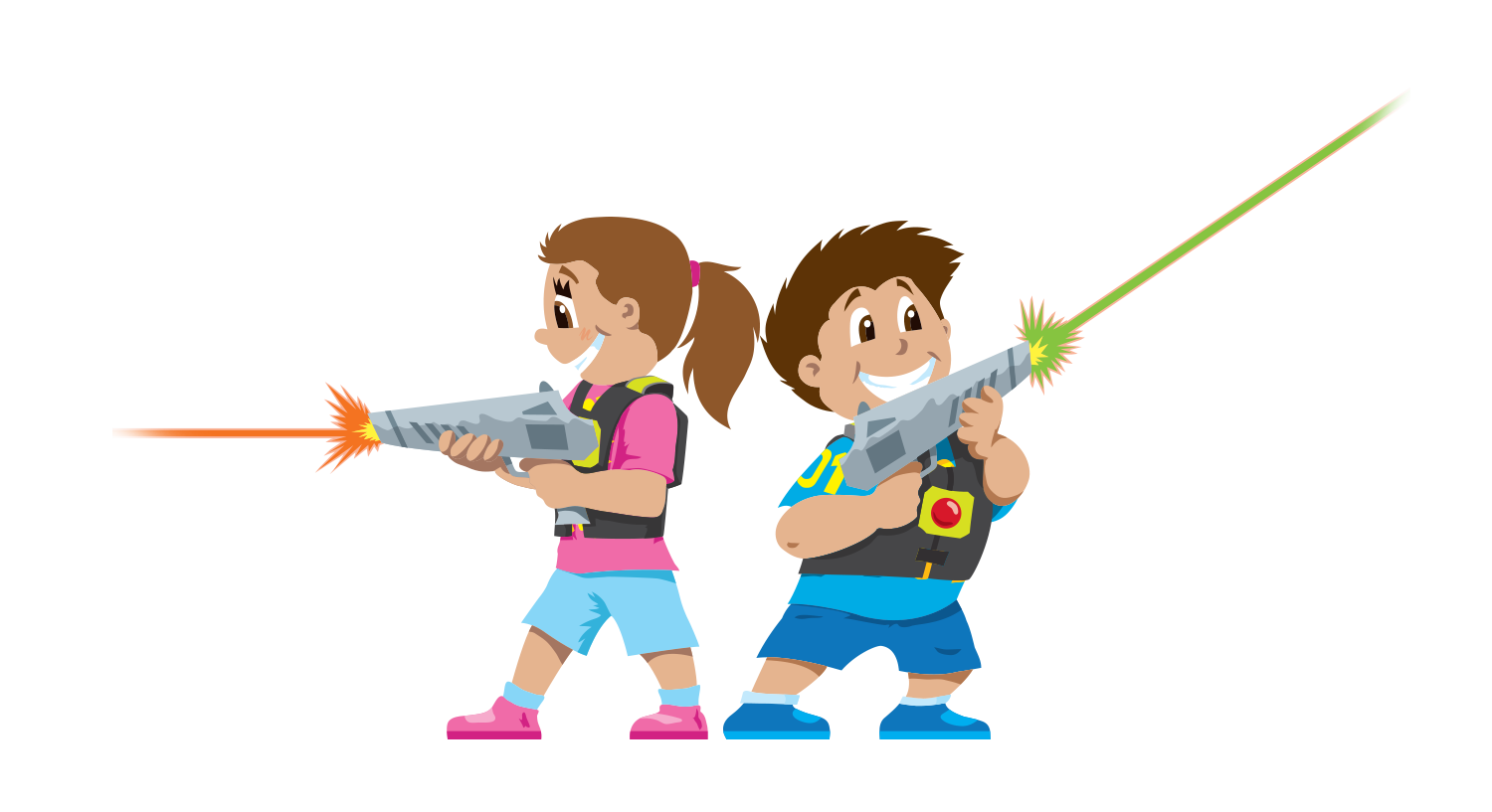 clip art freeuse stock Kids playing tag clipart. Laser game child clip.