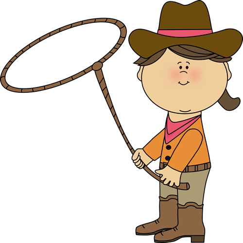 image royalty free library Cowgirl with a lasso. Free clipart western theme.