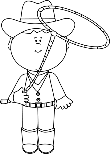 vector library Clip art cowboy with. Western clipart black and white