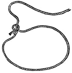 clip black and white Transparent free for . Lasso clipart lariat.